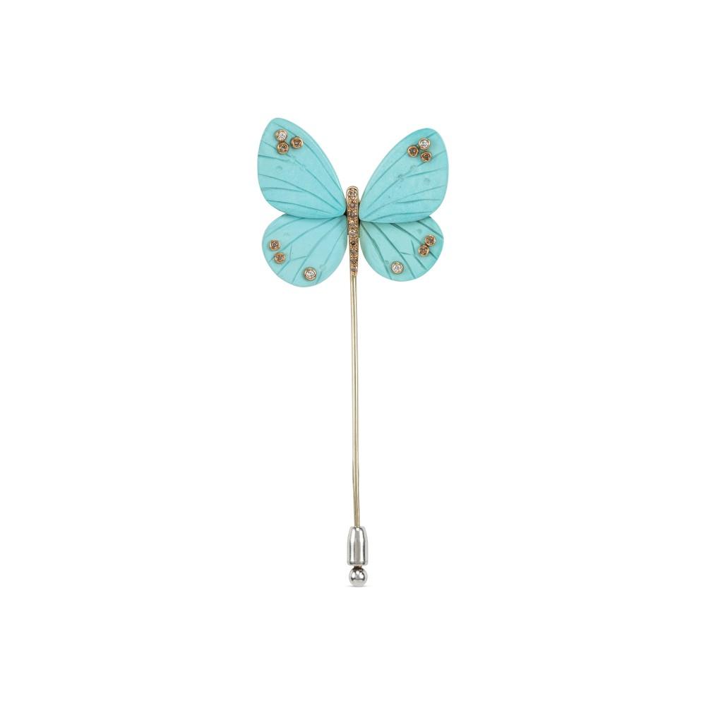 Broche Mariposa turquesa